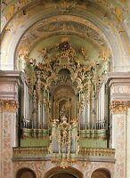 Alte Postkarte - Stiftskirche Herzogenburg - Barockorgel