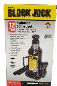 BRAND NEW 12 Ton Torin Black Steel Hydraulic Bottle Jack In Carry/Storage Case