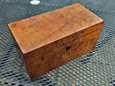 More details for early 19th century victorian walnut tea caddy in lovely condition