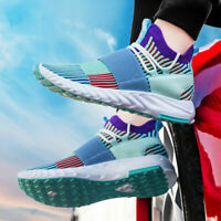 Men's Flyknit Casual Shoes Breathable Sports Running Shoes Athletic Sneakers Gym