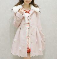 Women Girl Japanese Sweet Lolita Winter Princess Overcoat Warm Dress Jacket Coat