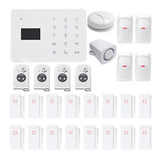 Wireless GSM Home Security LCD Touch Remote Door IR Sensors Smoke Alarm System