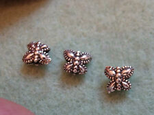 4 sterling silver butterfly spacer beads spacer tibet beads 925 vintage tone 3mm