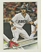 2017 Topps Update #US41 MITCH HANIGER RC Rookie Seattle Mariners QTY AVAILABLE