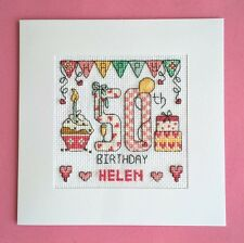Happy 50th Birthday cross stitch card kit