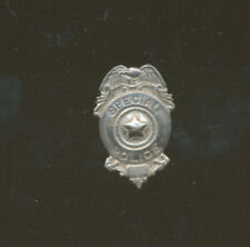 "A33 - VINTAGE SPECIAL POLICE MINI BADGE PIN, Measures 1 1/4"" Tall. Screwback"