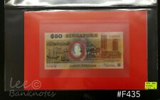 """Singapore - 1990  25th Anniversary of Independence $50 """"PREFIX A""""  