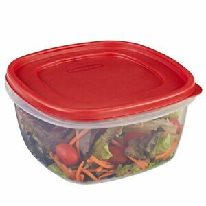 Rubbermaid Easy Find Lids Food Storage Container, 14 Cup, Racer Red