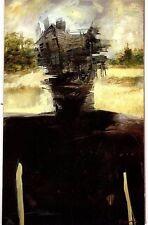 Unframed Art Poster fantasy art man with shack as head landscape (k58)