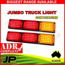 2x NEW JUMBO 12V/24V 72 LED Trailer Tail Light Indicator Lamp For Caravan Truck