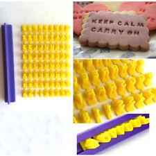 72pcs Alphabet Number Letter Fondant Cake Decorating Set Icing Cutter Mold Mould