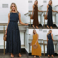 Boho Women Summer Casual Long Maxi Evening Party Cocktail Beach Dress Sundress