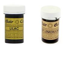 Sugarflair Paste Gel Edible Food Colouring Colours Icing - Lilac & Bitter Lemon