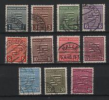 1945 Provinz Sachsen aus Michel 73y-84y gestempelt Provinzwappen Einzelmarken