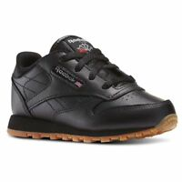 Reebok CL Classic V69625 Black Leather Baby Toddler Shoes