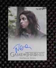 GAME OF THRONES SEASON 3 Natalia Tena as Osha AUTOGRAPH CARD