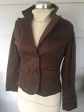 Womens Ruff Hewn Small S Cotton Spandex Jacket Brown Magenta Light Coat