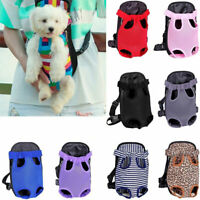 1PC Mesh Pet Puppy Dog Cat Backpack Front Net Bag Tote Sling Carrier S-XL