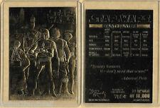 Star Wars Bounty Hunters 23 KT Karat Gold Card Sculptured