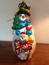 "Vintage 11"" GANZ GLASS OLD WORLD Christmas Ornament/Figurine Painted SNOWMAN"