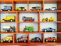 13 x Matchbox + 1 VW-Käfer (1:43) von RIO, NEU,-OHNE!!!-Holz-Vitrine!!!