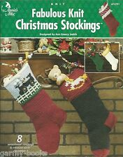 Fabulous Knit Christmas Stockings Knitting Annie's Attic Patterns Ann Smith NEW