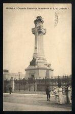 Cartolina - MONZA Cappella Espiatoria Umberto I - VG 1910 Postcard Animata