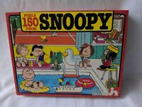 Vintage Snoopy Puzzle 1983 Puzzle Nathan French 100% Complete 45pcs Jardine Rare