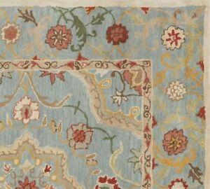 New Traditional Blue Parsian Handmade 100% Oriental Wool Area Rugs & Carpet