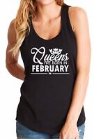 #3 Tank Top Birthday Gift for Women Shirt Queens Are Born in February Sleeveless