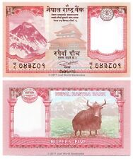 Nepal 5 RUPEES 2017 P-NUOVE BANCONOTE UNC