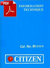 Information Technique - CITIZEN cal. 8100A / 8110A Chronographe - PDF - 18 pages