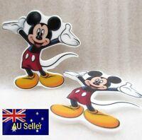 Plastic Flatback Planar Resin Embellishment -Mickey Mouse - 5 Pack - for DIY