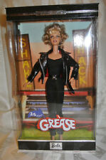 Grease Barbie Doll 25th Anniversary Sandy NRFB 2003 Black Leather Outfit