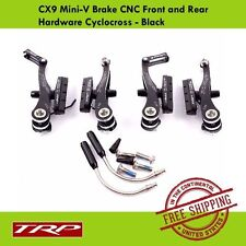 TRP CX9 Mini-V Brake CNC Front and Rear Hardware Cyclocross - Black
