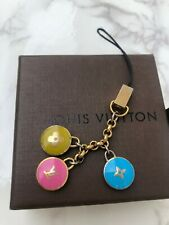 LOUIS VUITTON Strap Bag charm Key chain holder ring AUTH PASTILLES Pink F/S 3