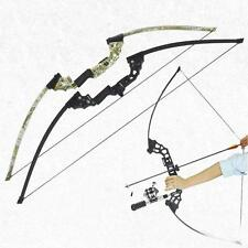 40lbs Archery Take Down Straight Recurve Bow Right Hand Hunting Fishing Longbow