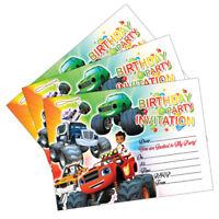 Blaze & The Monster Machines Birthday Party Invitations Invites Cards Kids Child