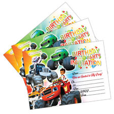 Blaze & The Monster Machines Birthday Party Invitations Invites Cards Kids Boys