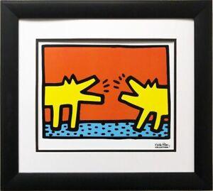 "Keith Haring ""Untitled, 1989 (Dogs) "" CUSTOM FRAMED Print Art POP  Modern"