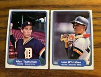 1982 Fleer #283 Alan Trammell and #284 Lou Whitaker - Tigers