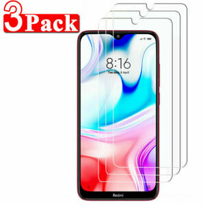 3X Full Cover Clear Tempered Glass Screen Protector For Red Mi Note 7/8/9 pro