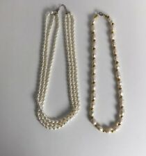 Wholesale2 Pcs White Freshwater Cultured Pearl Necklace