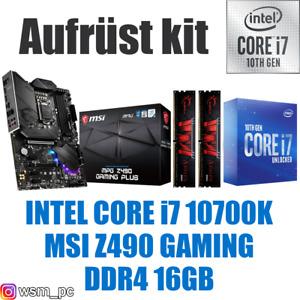 🅸🅽🆃🅴🅻 Core i7 10700K ● MSI Z490 Mainboard ● 16GB RAM ● Intel PC Bundle Kit