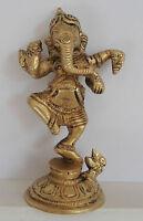 **Beautiful** Indian Dancing Ganesh Brass Hindu God Statue 9.8cm