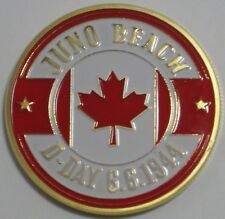 JUNO BEACH D-DAY 2ND INFANTRY DIVISION 6TH JUNE 1944 CANADIAN MILITARY COIN