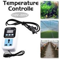Electronic Thermostat Digital Temperature Control Socket Controller US Plug