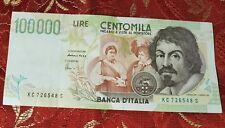 Banconota Italiana da 100.000 Lire serie C KC 726548 S  qs FDS Carta scrocchiant