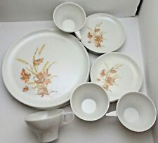Vintage Emdeko Melmac Melamine Autumn Floral Lot 16pc Dinnerware Set USA