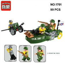 Enlighten 1701 Military Army Ship Gun Figure Building Block Toys blocks toy